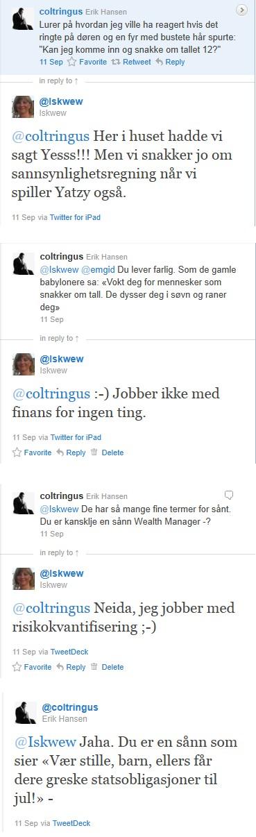 Siste twittersamtale med @coltringus
