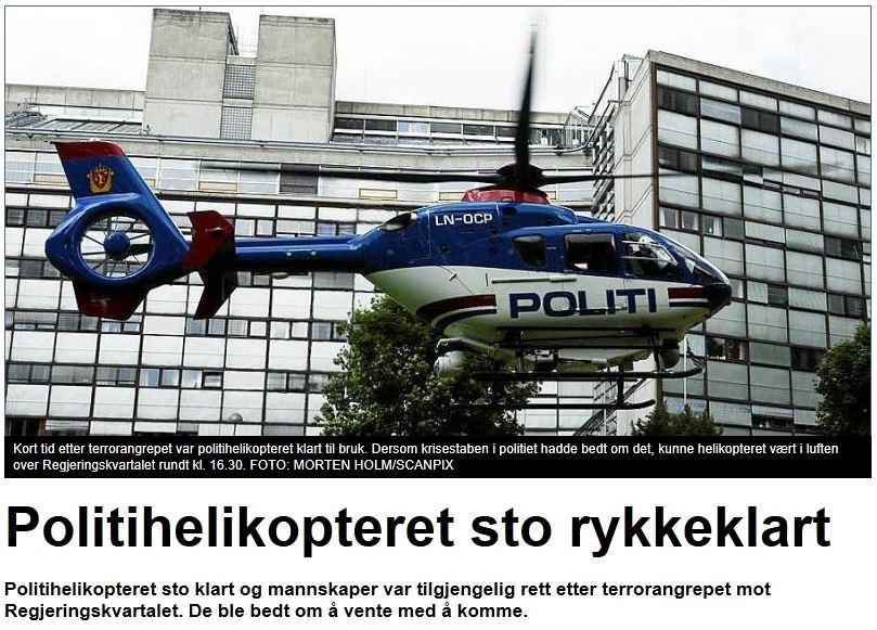 Politihelikopteret sto rykkeklart