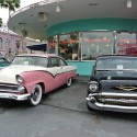 Nice cars and diner