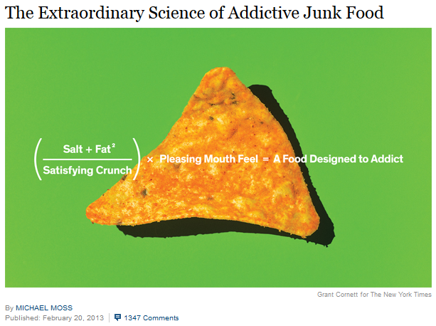 NYtimes addictive food