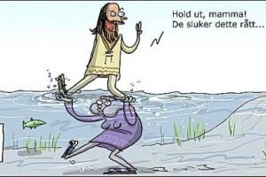 Barn kan ikke gå på vannet