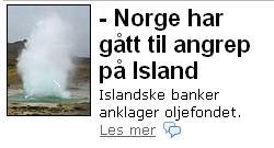 Norge og Island i krig?