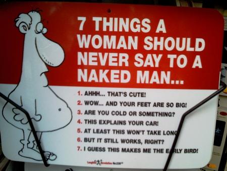 Ting du ikke sier til en naken mann