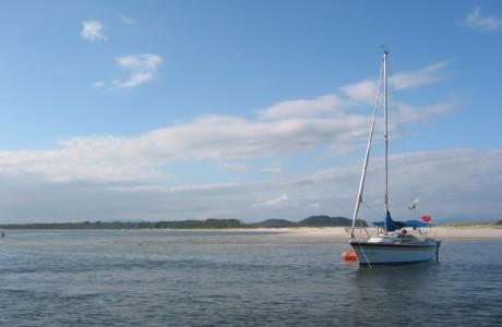 Sailboat at Ilha do Mel