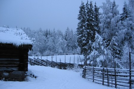 Grey winter at Lillehammer