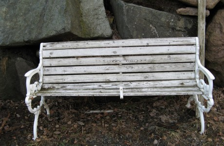 Abandoned bench