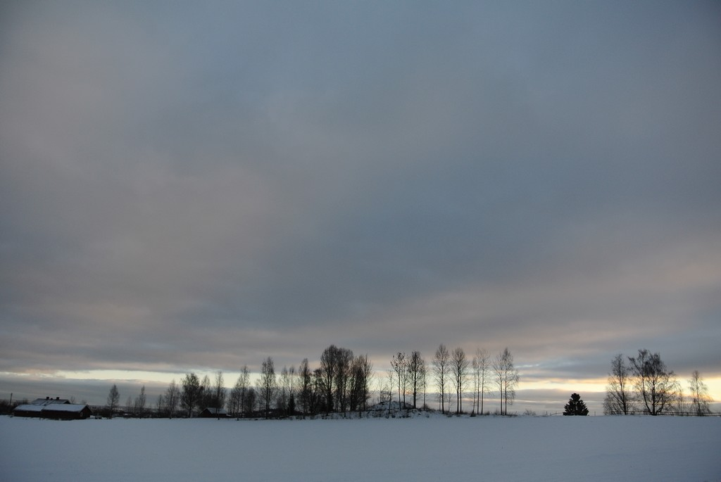winter afternoon clouded