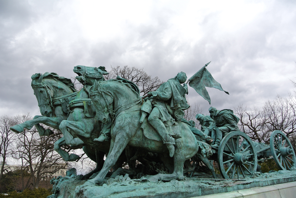 Civil war monument near Capitol