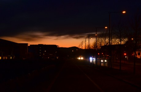 Sunset on Fornebu
