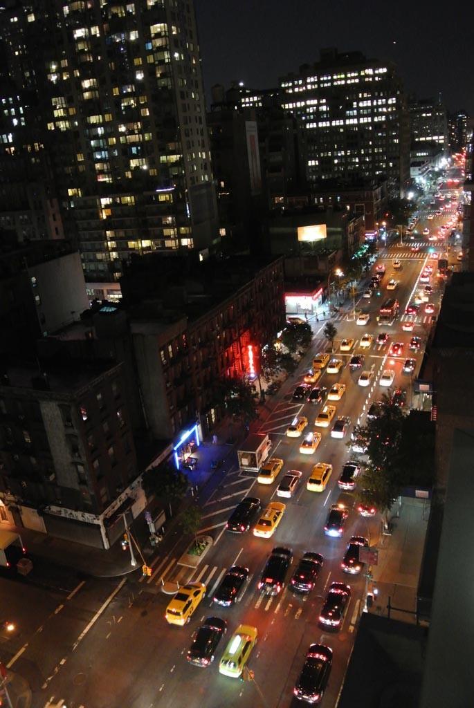 Manhattan 9th avenue at night