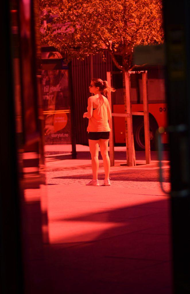 Through pink