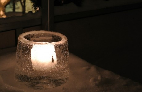 Candle in ice